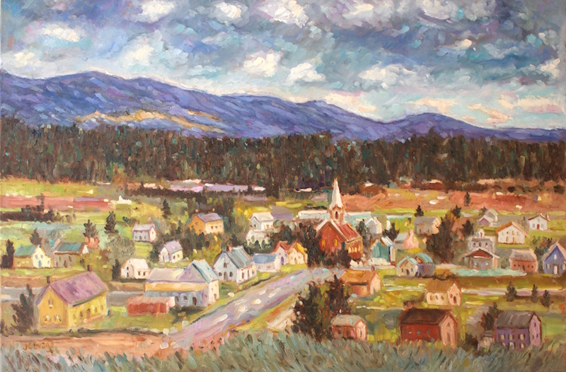 Summer vacation inspired, LEADVILLE OVERLOOK by Jean Childs Buzgo - 24 x 36 in., o/c • $4,800