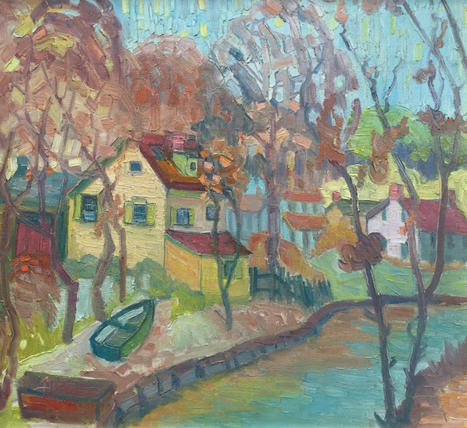 OCTOBER CANAL by Joseph Barrett - 22 x 24 in., o/c • $6,000