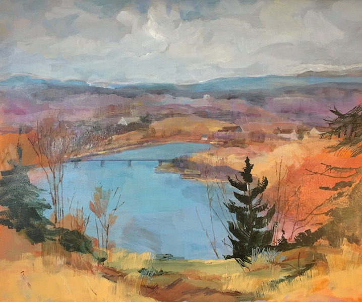 New this summer:  OVERLOOKING THE DELAWARE by Anita Shrager - 20 x 24 in., o/c • $4,200