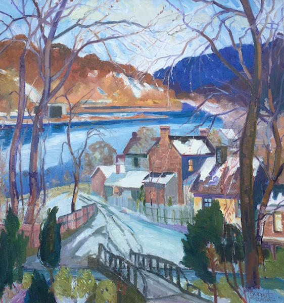 RIVERS EDGE, PATH TO THE RIVER by Joseph Barrett - 32 x 30 in., o/c • $9,700