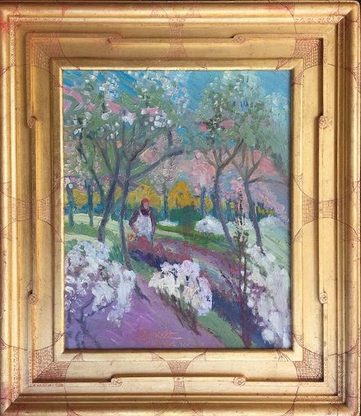 APRIL 1, ORCHARD by Joseph Barrett - 17 x 14 in., o/c • $4,400