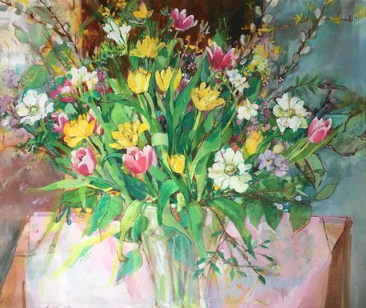 APRIL'S PALETTE by Anita Shrager - 26 x30 in., o/c • $5,800