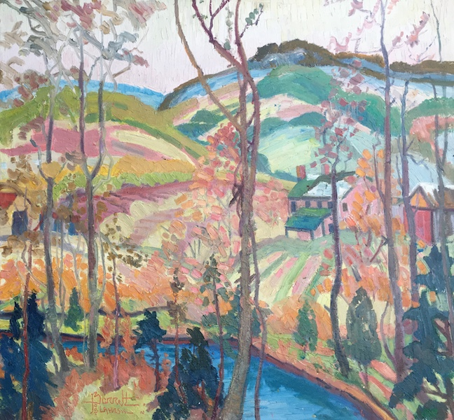LATE AUTUMN by Joseph Barrett - 28 x 30 in., o/c • $8,200