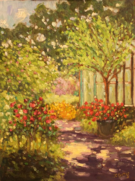 MARILYN'S GARDEN by Jean Childs Buzgo - 16 x 12 in., o/b • SOLD