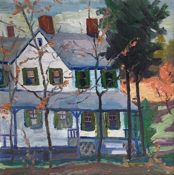 NEW HOPE HOUSE (Doctor's House) by Joseph Barrett - 16 x 16 in. o/c • $3,700