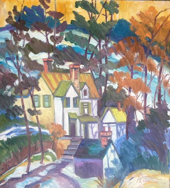 OFF ALMSHOUSE ROAD by Joseph Barrett - 32 x 30 in., o/c • $9,700