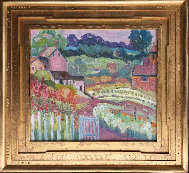 OLD ROAD PAST GARDENVILLE GATE by Joseph Barrett - 16 x 18 in., o/c • $3,800