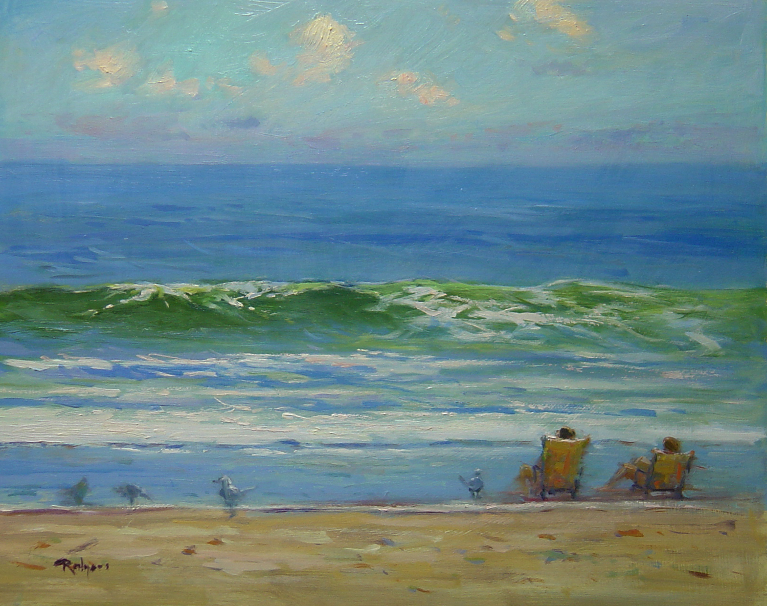 SURFS UP by Jim Rodgers- 16 x 20 in., o/b •$3,700