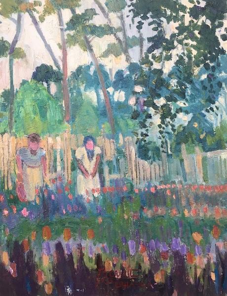 TWO WOMEN: CARVERSVILLE, PHILLIPS MILL by Joseph Barrett - 18 x 14 in., o/cb • $4,000