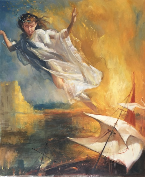 ARIEL (THE TEMPEST), an Illustration by Glenn Harrington for Shakespeare's POETRY FOR YOUNG PEOPLE - 22 x 18 in., o/l - $14,000