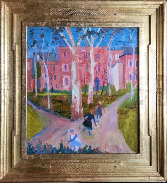 LAMBERTVILLE by Joseph Barrett - 18 x 16 in., o/c • $4,200