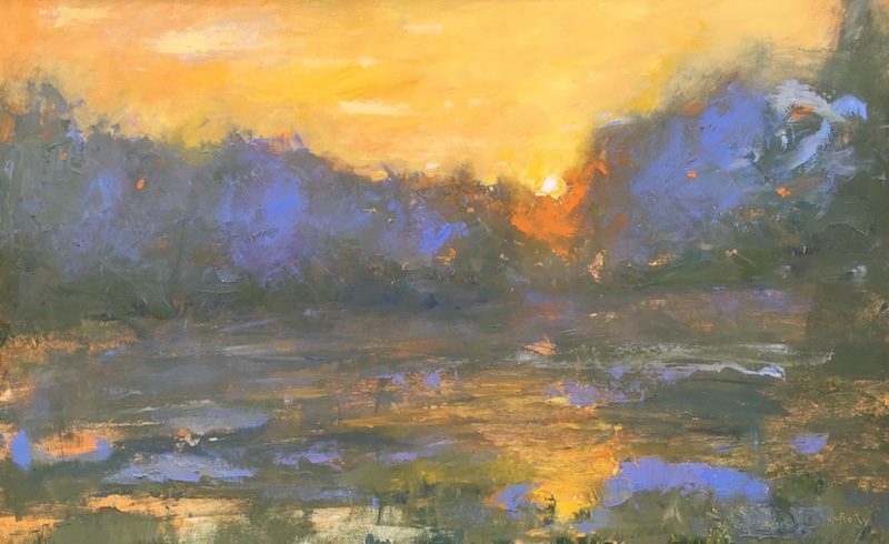 LATE SUNSET_ by Desmond McRory - 24 x 38 in., o/b • $4,800