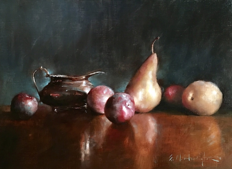 PLUMS AND PEARS by Evan Harrington - 14 x 19 in., o/l • $3,000