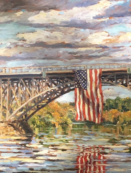 SCHUYLKILL GLORY by Jennifer Hansen Rolli, 18 x 14 in., o/c - a gift by the artist to Love for Life to be auctioned off this winter!
