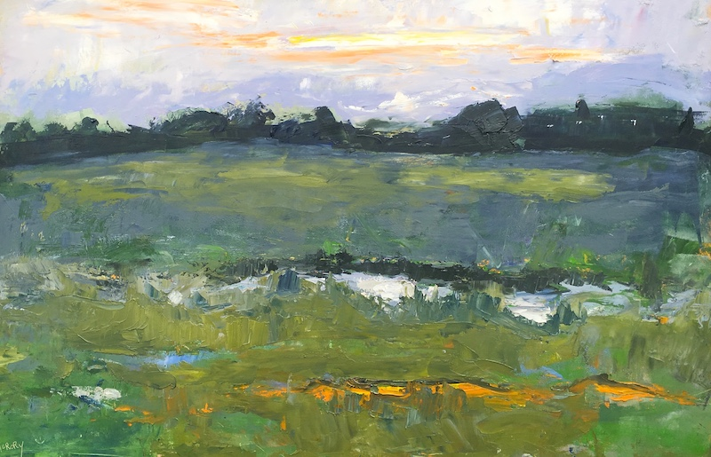 STREAKED SUNSET_ by Desmond McRory - 24 x 36 in., o/b • $4,500