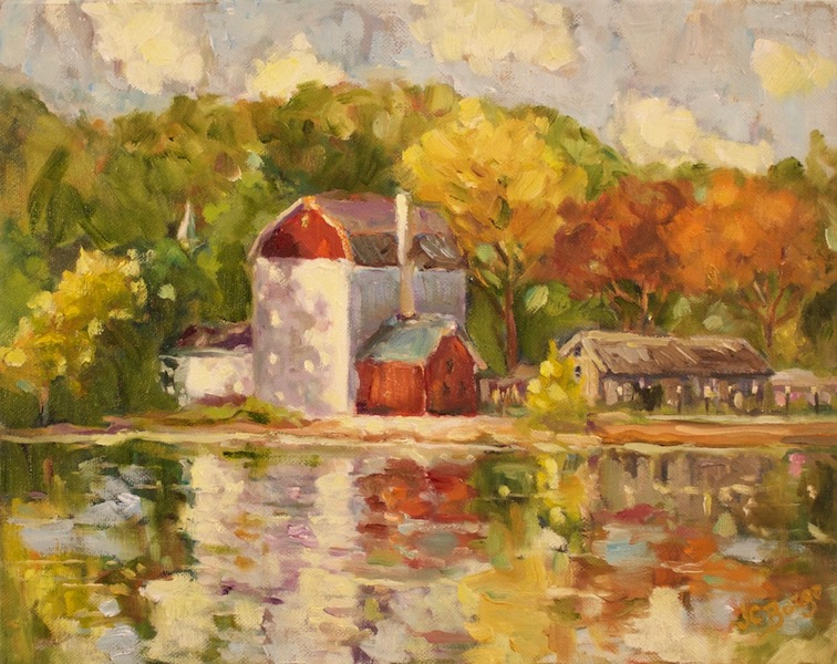 SUNSHINE ON THE PLAYHOUSE by Jean Childs Buzgo - 11 x 14 in., o/c • $1,300