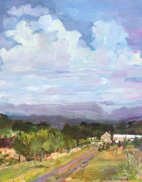 NEW MOON, BUCKINGHAM by Anita Shrager - 20 x 16 in., o/c • $3,000