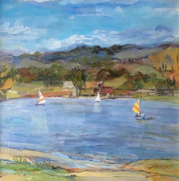 SEPTEMBER AFTERNOON, LAKE GALENA by Anita Shrager - 16 x 16 in., o/c • $2,600