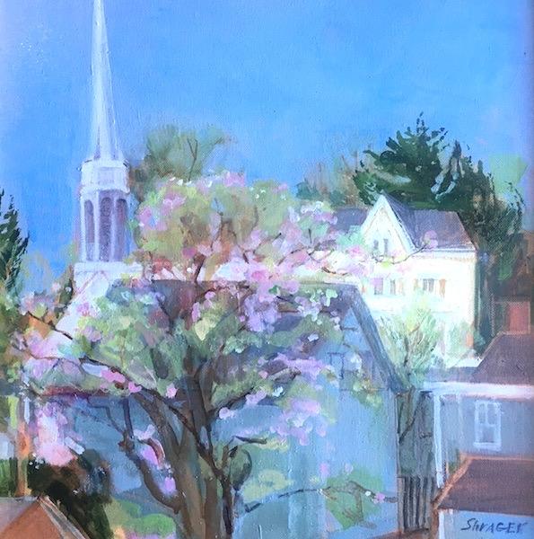 SPRING, INSPIRED by Anita Shrager - 16 x 16 in., o/c • $2,400