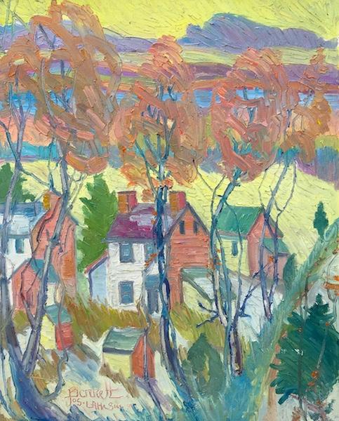 EDGE OF RIVERTOWN by Joseph Barrett - 30 x 24 in., o/c • $8,800