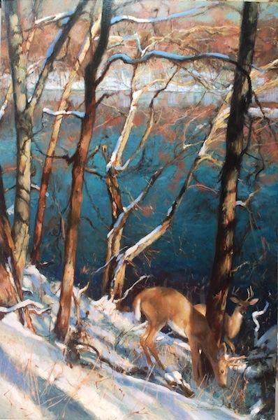 SNOWBANK, ERWINNA by Glenn Harrington - 36 x 24 in., o/l • $12,000