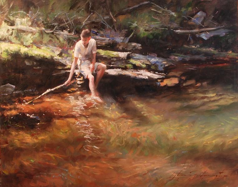 RED SHALEPOOL II by Glenn Harrington - 16 x 20 in., o/l • $7,500
