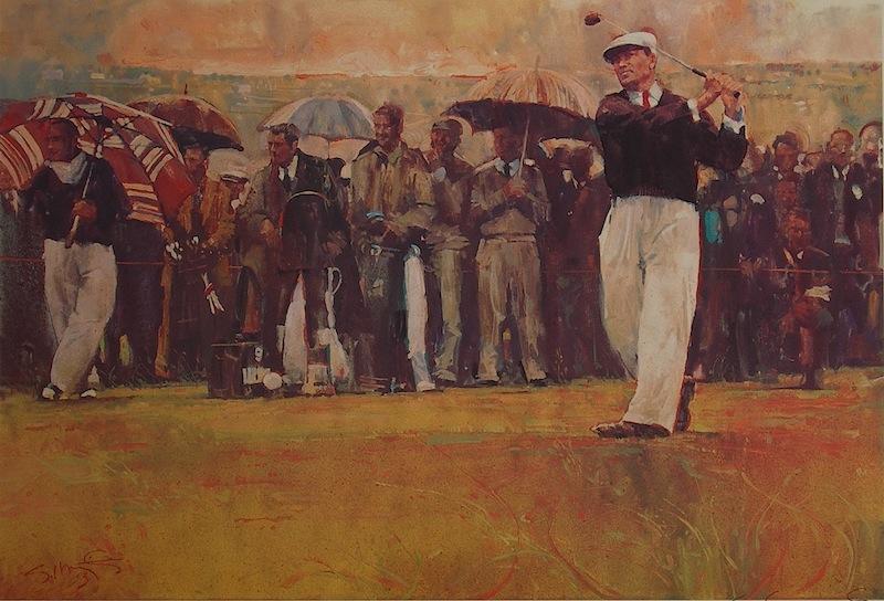 BEN HOGAN by Glenn Harrington - call for more information on Glenn's fine golf paintings!