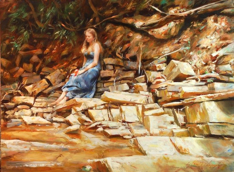 SAM'S CAUSEWAY by Glenn Harrington - 18 x 24 in., o/l • $8,500
