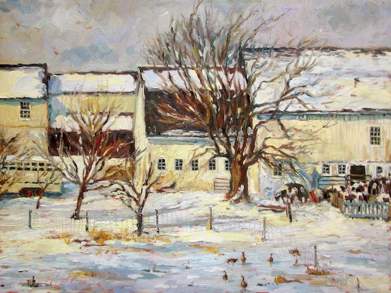 LAVENDER SNOWDAY by Jennifer Hansen Rolli - 18 x 24 in., o/c • SOLD