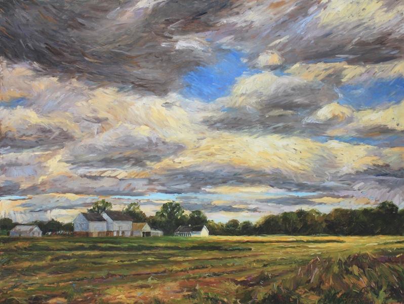 SUMMER FIELDS by Jennifer Hansen Rolli - 30 x 40 in., o/c • SOLD