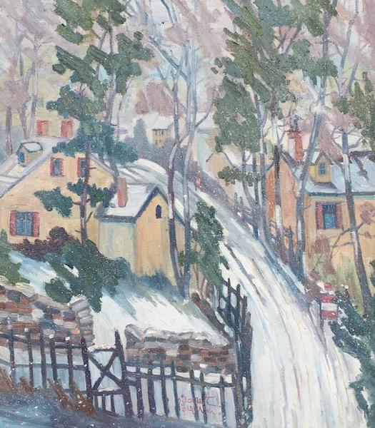 SNOW DAY by Joseph Barrett - 32 x 28 in., o/c • SOLD
