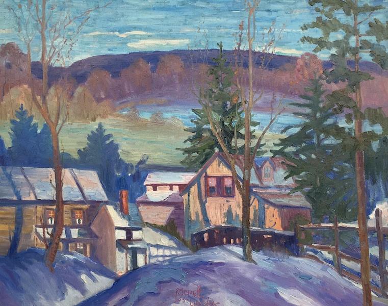 EARLY WINTER BY Joseph Barrett - 26 x 32 in., o/c • $9,800