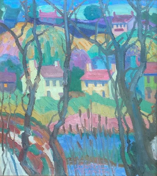 HOUSES: OLD CREEK (framed) by Joseph Barrett - 20 x 18 inches, o/c • $6,000