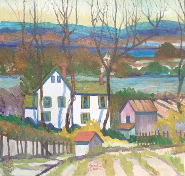 WHITE HOUSE by Joseph Barrett - 30 x 32 inches, o/c • SOLD
