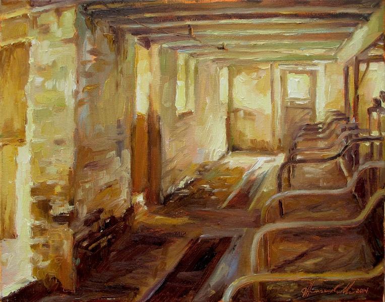 INTERIOR NO. 11 by Jennifer Hansen Rolli - 11 x 14 in., o/c • $2,800