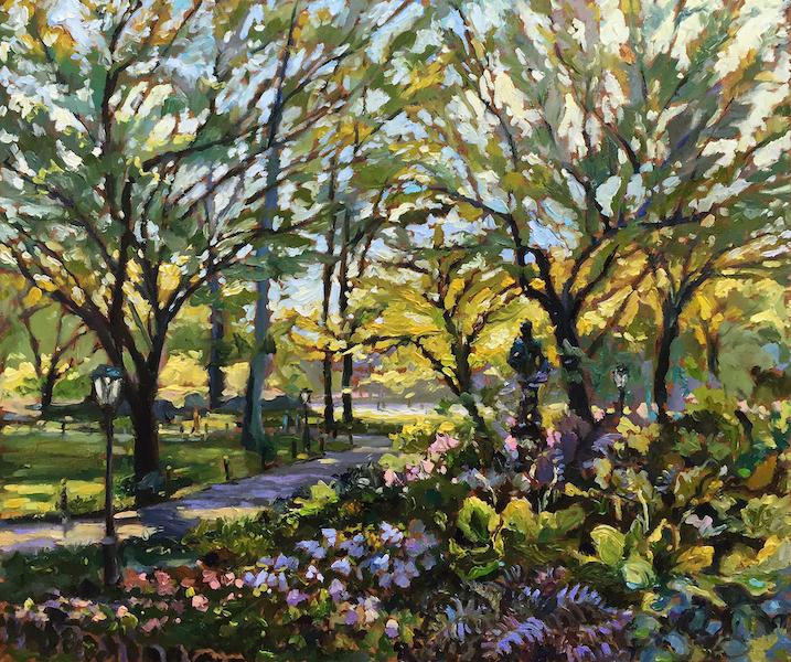 EARLY AUTUMN, CENTRAL PARK by Jennifer Hansen Rolli - 20 x 24 in, o/c • $6,000