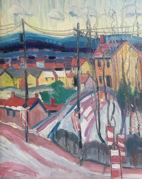 OLD ROAD TO BUCKINGHAM by Joseph Barrett - 20 x 16 in., o/c • $4,500