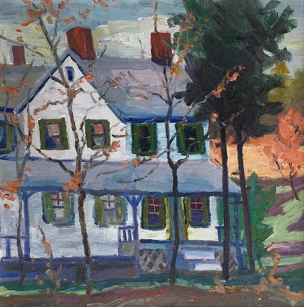 NEW HOPE HOUSE (Doctor's House) by Joseph Barrett - 16 x 16 in. o/c • $4,700