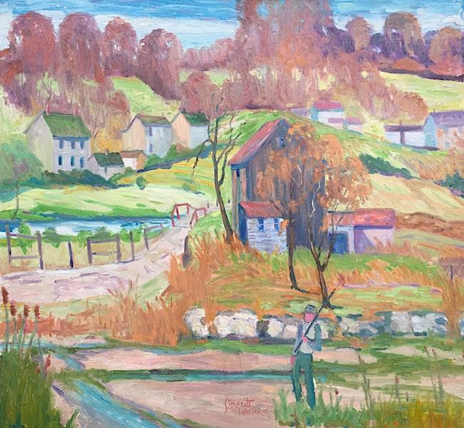 OLD FARM by Joseph Barrett - 28 x 30 in., o/c • $9,850