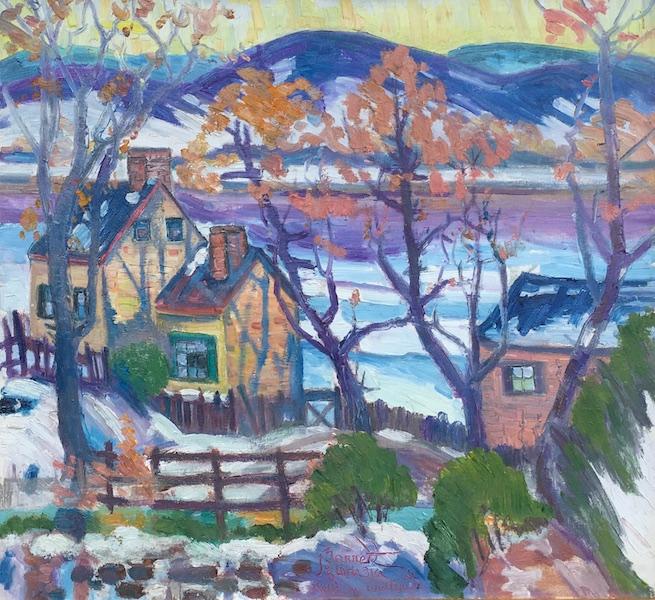 RIVER IN WINTER by Joseph Barrett - 22 x 24 in., o/c • SOLD
