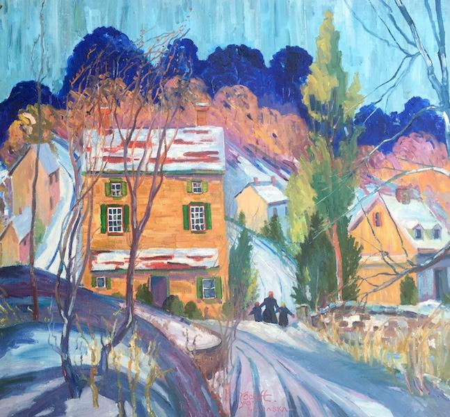 WINTER DAY, SOLEBURY by Joseph Barrett - 30 x 32 in., o/c • $11,500