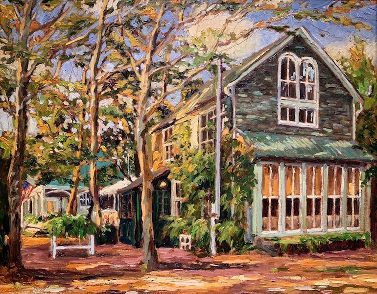 BOATHOUSE, FIRST DATE by Jennifer Hansen Rolli - 16 x 20 in., o/c • SOLD