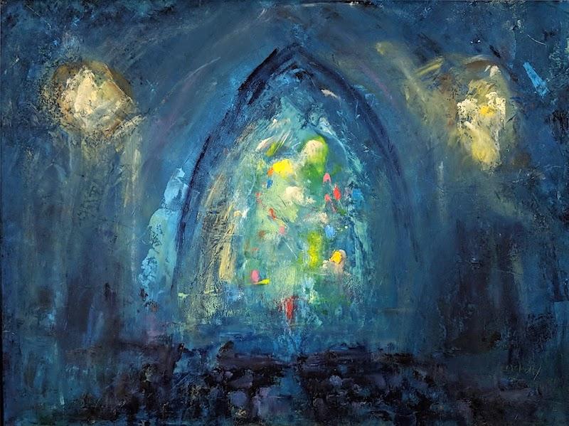 CHURCH by Desmond McRory - 18 x 24 in., o/b • $2,500