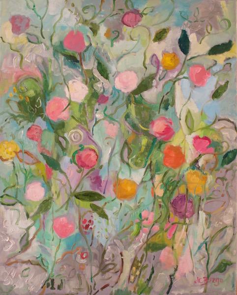 DANCING FLOWERS III by Jean Childs Buzgo - 20 x 16 in., o/c • $2,000