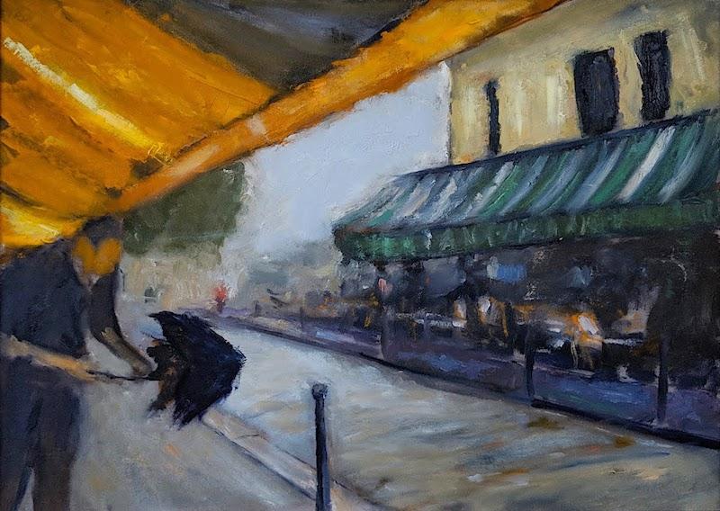 PARIS IN THE RAIN by Desmond McRory - 18 x 24 in., o/b • $2,500