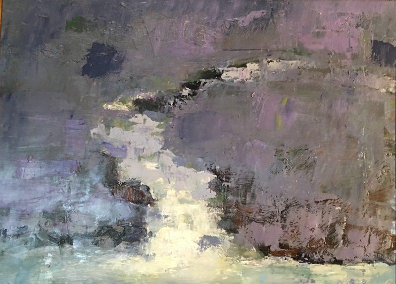 CREEK CASCADE by Desmond McRory - 18 x 24 in., o/b • $2,500