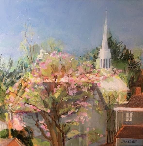 SPRING, INSPIRED by Anita Shrager - 16 x 16 in., o/c • $2,600