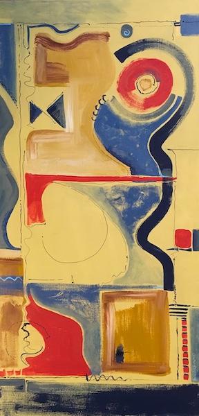 BOW TIE by Rhonda Garland - 48 x 24 in., acrylic on canvas • $4,500