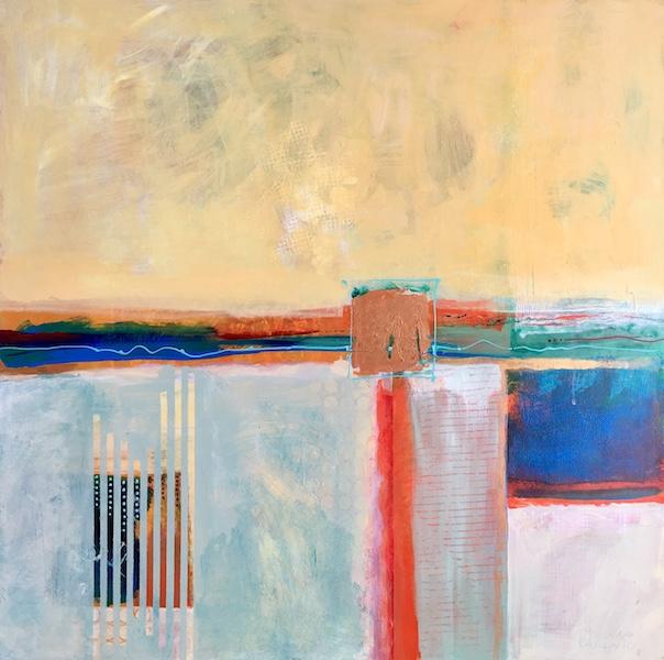 ONE NATION by Rhonda Garland - 24 in. sq., acrylic on birch panel • $3,000