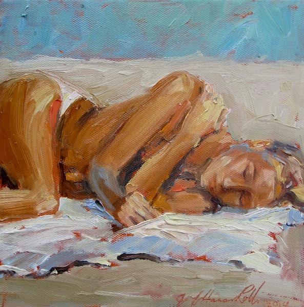 AT EASE by Jennifer Hansen Rolli - 8 x 8 in., o/c • $1,200